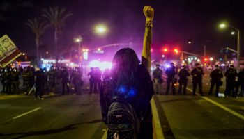 Santa Ana Protest turn violent