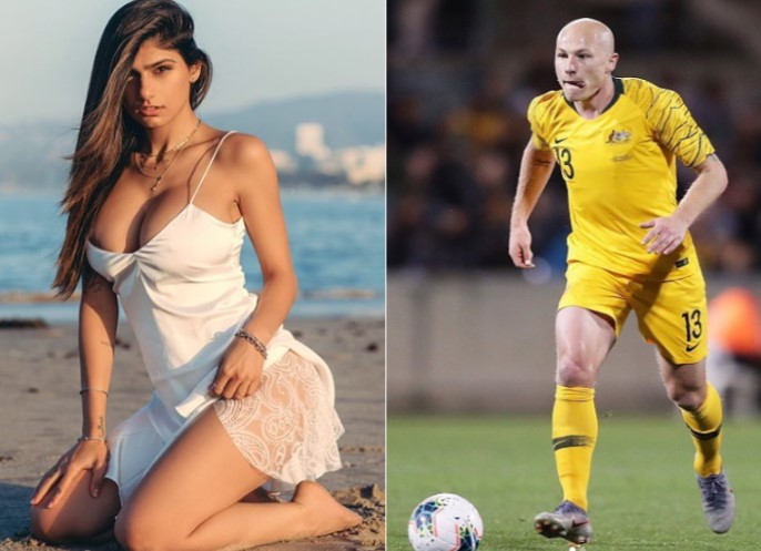 Mia Khalifa expressed her love for Aaron Mooy