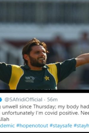 Shahid Afrifi tested covid positive