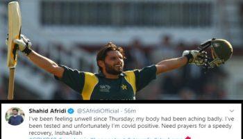 Shahid Afrifi tested covid positive