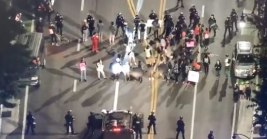 Beverly Hills Protest: multiple arrested for blocking the road