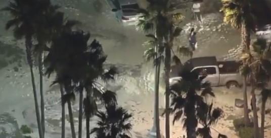 California: High tide brought flooding in Newport Beach