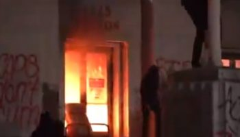 Alameda County Courthouse set on fire during Oakland Protest