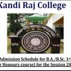 Kandi Raj College Admission provisional merit list 2020