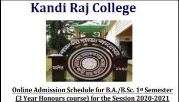 Kandi Raj College Admission provisional merit list 2020