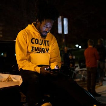Radical Alexander, 34, attended a Defend the Vote event in Madison, Wis., on Wednesday, after President Trump said he would seek a recount in the state.