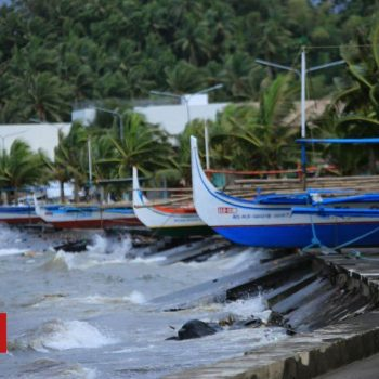 Typhoon Goni: Philippines hit by year's most powerful storm