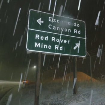 1st storm of winter season brings rain, snow to Southern California