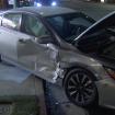 Father, 2 children struck by car that careened onto sidewalk after crash in Woodland Hills