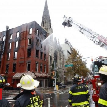 Fire tears through New York Middle Collegiate Church
