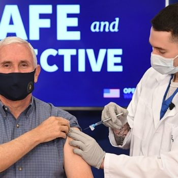 Mike And Karen Pence Have Received The First Dose Of The COVID-19 Vaccine On Live TV