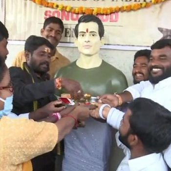 Telangana villagers dedicate temple to Sonu Sood for his noble deeds amid COVID-19 pandemic