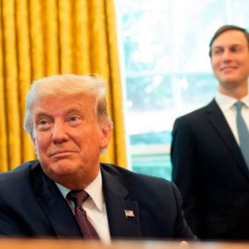 <p>Donald Trump and Jared Kushner capitalised from the federal government's PPP loan program with their own companies</p> (AFP via Getty Images)