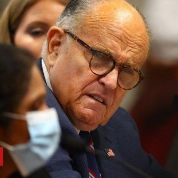 Trump says lawyer Rudy Giuliani has Covid-19