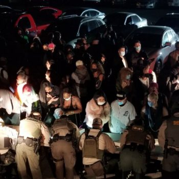137 arrested as sheriff's deputies bust series of Thursday night parties in L.A.