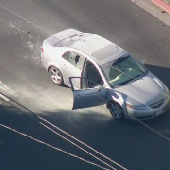 Authorities in standoff with arson suspect following pursuit in Paramount area