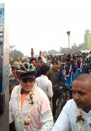 BSF Maitri Cycle Rally arrives in Nimtita Camp Murshidabd