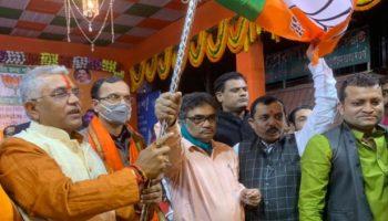 Bimal Sankar Nanda joins BJP at Dumdum Rally