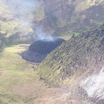 La Soufriere began spewing ash along with gas and steam, in addition to the formation of a new volcanic dome, caused by lava reaching the Earth's surface (University of the West Indies Seismic Research Centre )