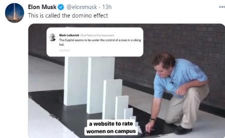 Elon Musk blames Capitol riots as domino effect of Facebook