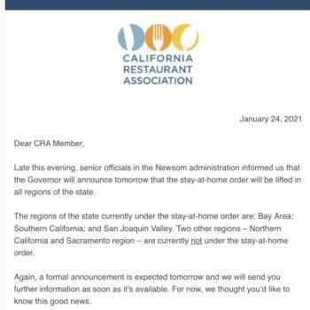 Gov. Newsom may lift California's regional coronavirus stay-at-home orders Monday
