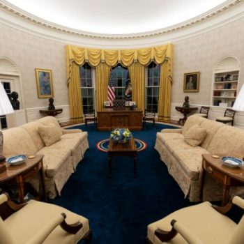 <p>The Oval Office of the White House is newly redecorated for the first day of President Joe Biden's administration, Wednesday, Jan. 20, 2021, in Washington. </p> ((AP Photo/Alex Brandon))