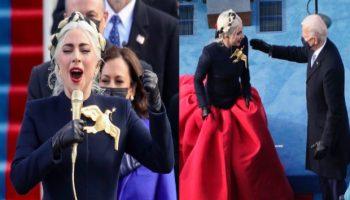 Lady Gaga sings National Anthem during President Biden Inauguration video