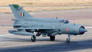 A Mig-21 Bison aircraft crashes in Rajasthan