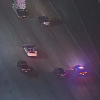 Authorities in pursuit of vehicle in Long Beach area