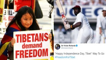 Sir Vivian Richards way to go Freedom for Tibet on Losar festival