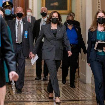 Vice President Kamala Harris at the U.S. Capitol on Thursday.