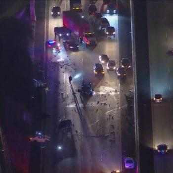 NB 110 Freeway closed in Carson following multivehicle crash: CHP