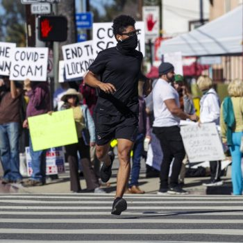 Protesters may get free-speech area to stop them from blocking vaccine access at Dodger Stadium