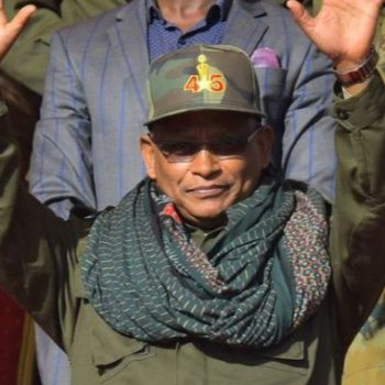 "Debretsion Gebremichael attends celebrations marking the 45th anniversary of the launching of the ""Armed Struggle of the Peoples of Tigray"", on February 19, 2020, in Mekelle"