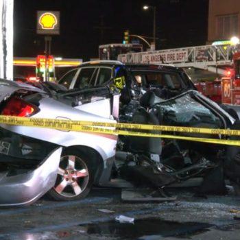 1 dead, 3 hospitalized after North Hollywood crash