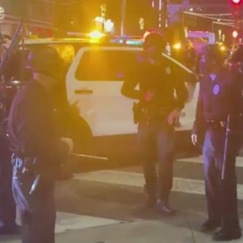 11 arrested as LAPD officers clash with protesters in Hollywood after march on anniversary of Breonna Taylor's death