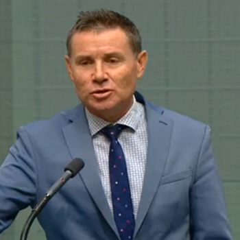 Government MP Andrew Laming speaking in parliament