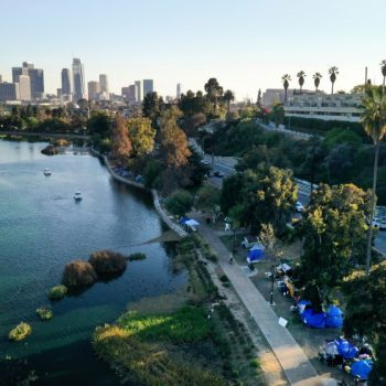 City expected to close Echo Park Lake to clear homeless encampment, remove more than 100 tents