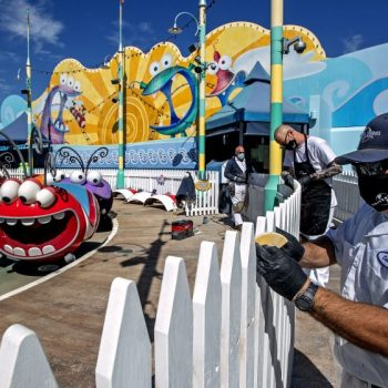 Disneyland, other California theme parks scramble to prepare for reopenings after year-long closures