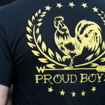 Fresno police officer on leave after video showed him joining Proud Boys in protest
