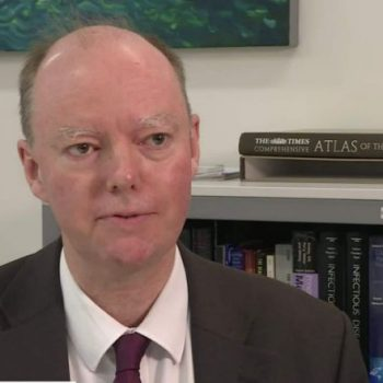 England's Chief Medical Officer Chris Whitty