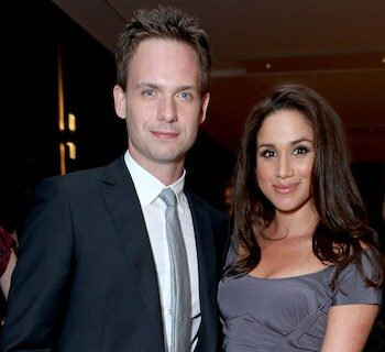 Meghan Markle and Patrick J. Adams starred in 'Suits' together. (Photo by Alexandra Wyman/Getty Images For FINCA)