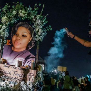 Police, protesters clash in Hollywood after march marking anniversary of Breonna Taylor's death