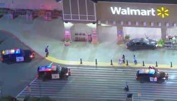 Pursuit ends as driver abandons car outside Walmart in Westminster; 1 detained