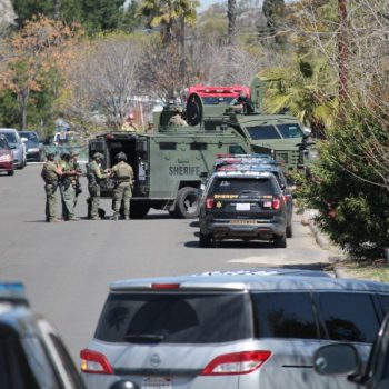 Suspect found dead in Perris home after standoff that followed gunfire exchange that wounded 1 deputy