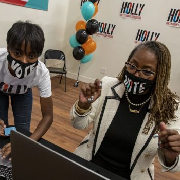Voters head to polls in crowded race for L.A. County state Senate seat vacated by Holly Mitchell