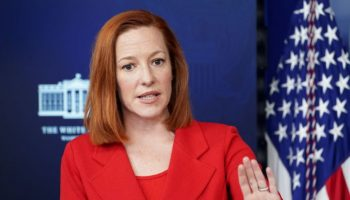 White House press secretary Jen Psaki speaks during a briefing at the White House in Washington, U.S., March 2, 2021. REUTERS/Kevin Lamarque
