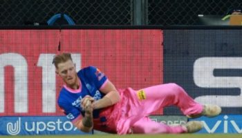 Ben Stokes of Rajasthan Royals left IPL 2021 following finger injury