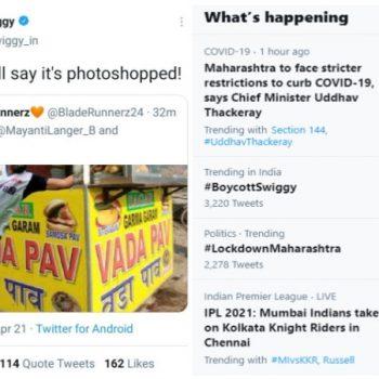 Boycott Swiggy trends after their distasteful tweet on Rohit Sharma