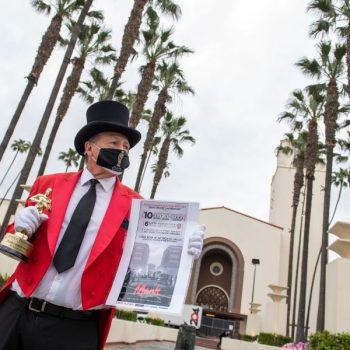 Final Oscars preparations underway before awards night at L.A.'s Union Station